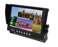 9 inch stand alone monitor with 4 video input